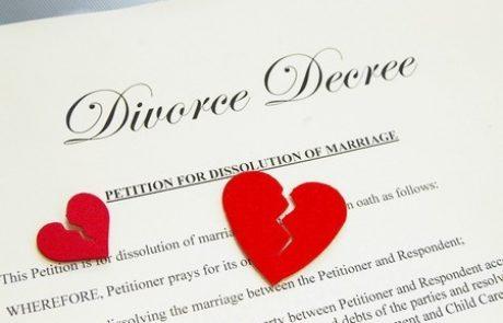 נישואין ופירוד של בני זוג שנישאו בנישואין אזרחיים